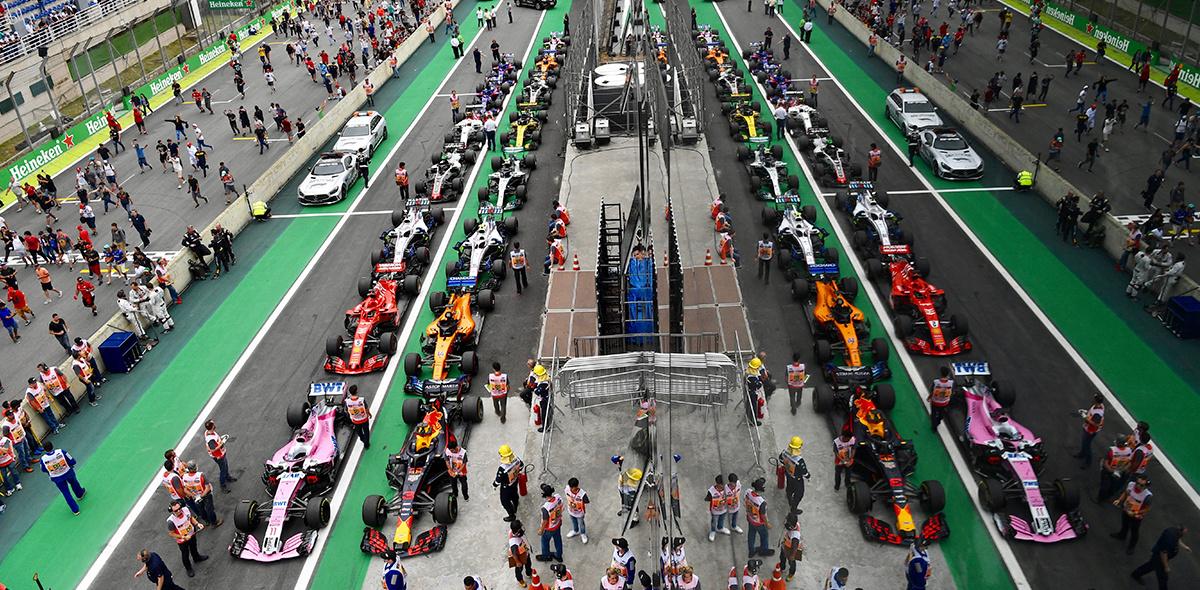 Brazil F1 start line
