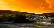 Spa 24 Hour track at sunset