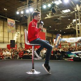 Charles LeClerc on the Autosport Stage
